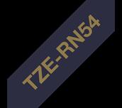 TZe-RN54 24mm gold on navy blue TZe ribbon