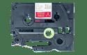 Eredeti Brother TZe-RW34 selyemszalag – Piros alapon arany színű, 12 mm széles 2