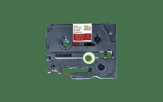 Originální pásková kazeta Brother TZe-RW54 - zlatý tisk na vínově rudé, šířka 24 mm 2