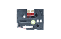 Original Brother TZe-RW54 Textilbandkassette – Gold auf Weinrot, 24 mm breit 2