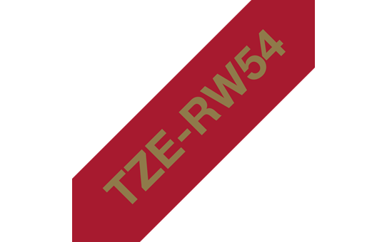 Originalt Brother TZeRW54 silkebånd – gull på vinrødt, 24 mm bred