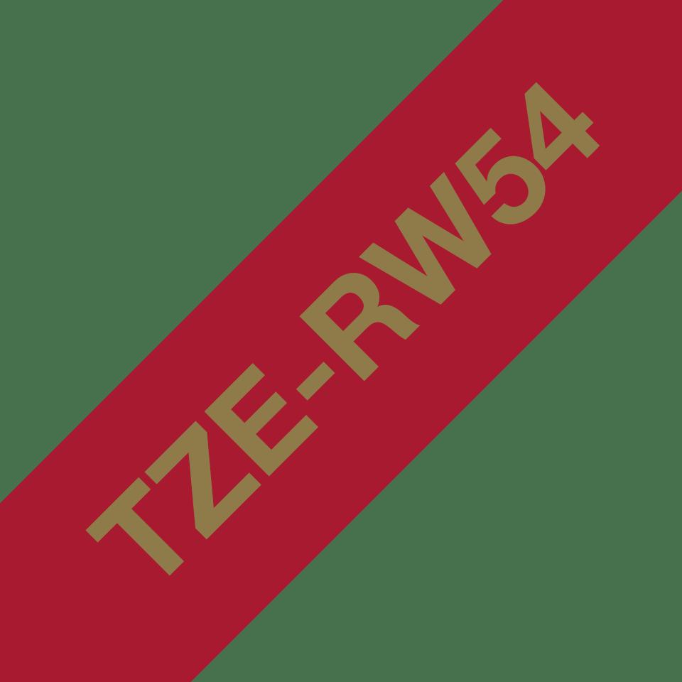 TZe-RW54 24mm gold on wine red TZe ribbon