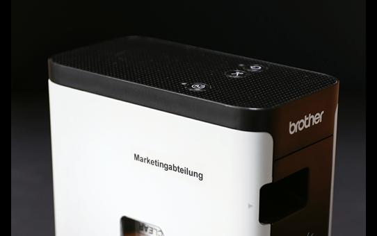 Originele Brother TZe-S121 sterk klevende label tapecassette - zwart op transparant, breedte 9 mm 4