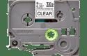 Brother TZeS121: оригинальная кассета с лентой с мощной клейкой поверхностью для печати наклеек черным на прозрачном фоне, ширина: 9 мм.