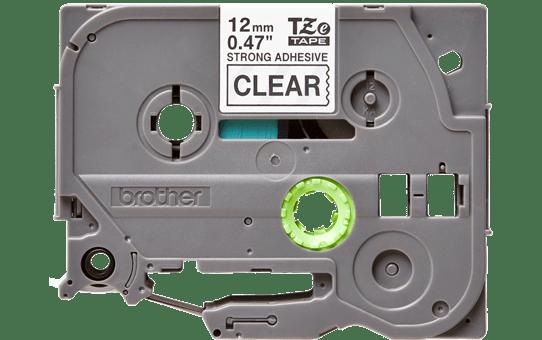 Brother TZeS131: оригинальная кассета с лентой с мощной клейкой поверхностью для печати наклеек черным на прозрачном фоне, ширина: 12 мм.