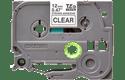Eredeti Brother TZe-S131 szalag – Átlátszó alapon fekete, 12mm széles 2