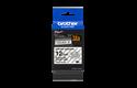 Originele Brother TZe-S131 sterk klevende label tapecassette - zwart op transparant, breedte 12 mm 3