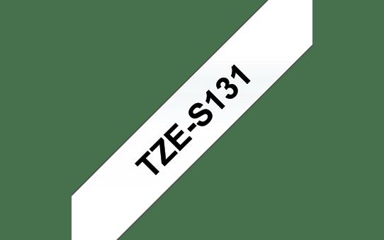Cassette à ruban pour étiqueteuse TZe-S131 Brother originale – Noir sur transparent, 12mm de large 3