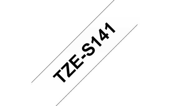 Genuine Brother TZe-S141 Labelling Tape Cassette – Black on Clear, 18mm wide