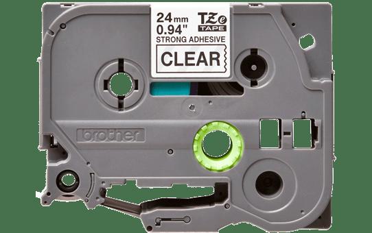 Original Brother TZeS151 tape – sort på klar, 24 mm bred 2