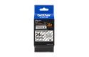 Genuine Brother TZE-S151 Labelling Tape Cassette – Black on Clear, 24mm wide 2