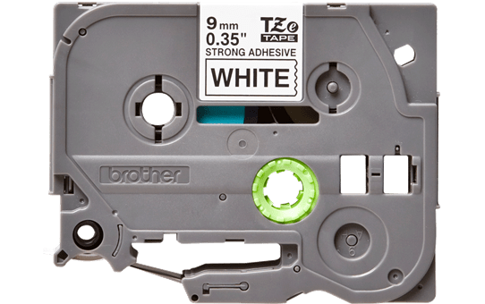 Brother TZeS221 original etikettape, svart på vit, 9 mm  2