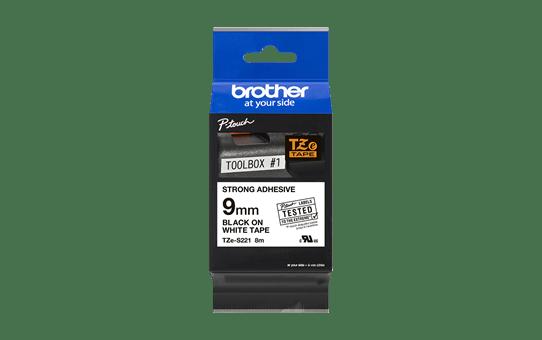 Brother TZe-S221 Schriftband – schwarz auf weiß 4