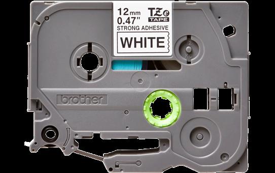 Brother TZeS231: оригинальная кассета с лентой для печати наклеек черным на белом фоне, ширина: 12 мм.