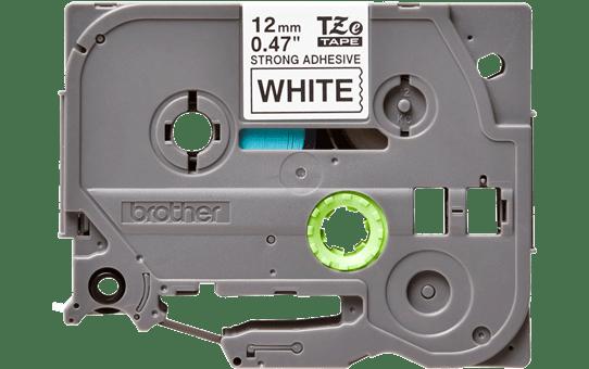 Cassetta nastro per etichettatura originale Brother TZe-S231 – Adesivo forte nero su bianco, 12 mm di larghezza