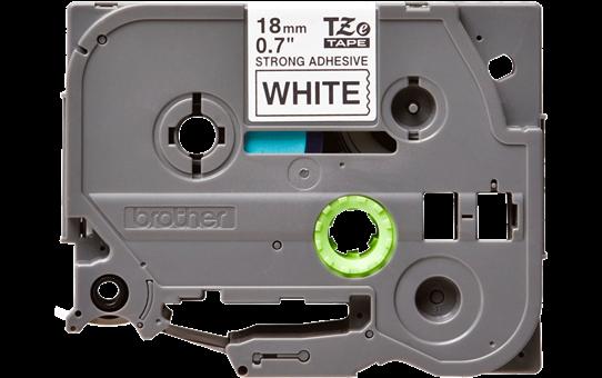 Originele Brother TZe-S241 sterk klevende label tapecassette -zwart op wit, breedte 18 mm 2