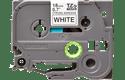 Cassette à ruban pour étiqueteuse TZe-S241 Brother originale – Noir sur blanc, 18mm de large 2