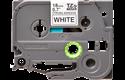 Brother TZeS241: оригинальная кассета с лентой с мощной клейкой поверхностью для печати наклеек черным на белом фоне, ширина: 18 мм.
