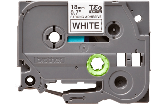 Genuine Brother TZe-S241 Labelling Tape Cassette – Black on White Strong Adhesive, 18mm wide 2