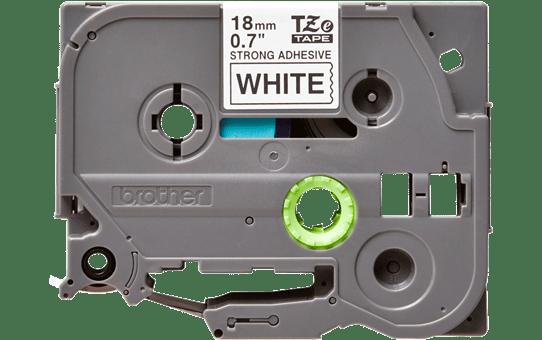 Casetă cu bandă de etichete originală Brother TZe-S241 – negru pe alb, lățime de 18mm 2
