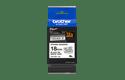 Original Brother TZeS241 merketape – sort på hvit med sterkt lim, 18 mm bred 3