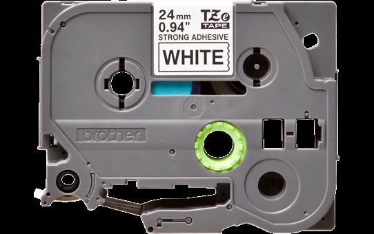 Original TZe-S251 Schriftbandkassette von Brother – Schwarz auf Weiß, 24mm breit  2