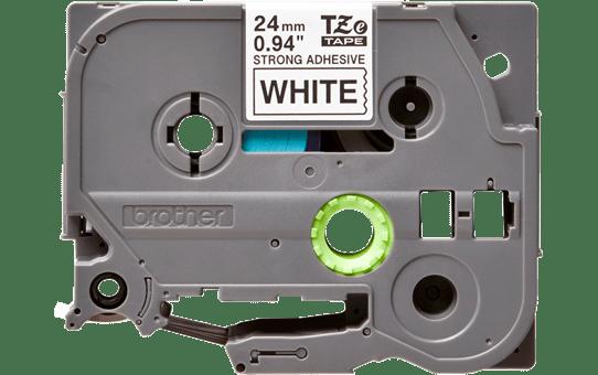 Original Brother TZe-S251 tape – sort på hvid, stærkt klæbende, 24 mm bred  2