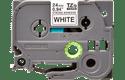 Originali Brother Tze-S251 ženklinimo juostos kasetė – juodos raidės baltame fone, 24 mm pločio
