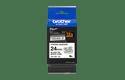 Brother TZeS251: оригинальная кассета с лентой для печати наклеек черным на белом фоне, ширина 24 мм. 2