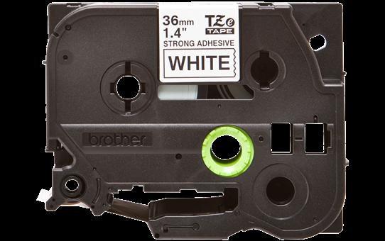 Original TZe-S261 Schriftbandkassette von Brother – Schwarz auf Weiß, 36mm breit 2