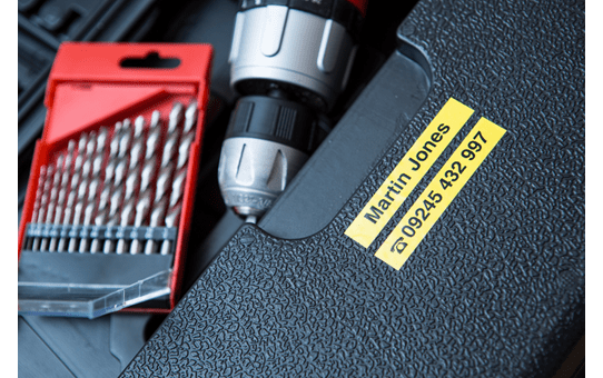 Cassette à ruban pour étiqueteuse TZe-S621 Brother originale – Noir sur jaune, 9mm de large 4