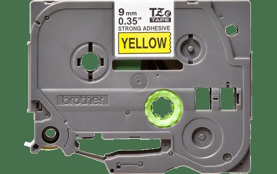 Alkuperäinen Brother TZeS621 -lujasti kiinnittyvä tarranauha – musta teksti/keltainen pohja, 9 mm 2