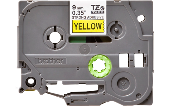 Eredeti Brother TZe-S621 P-touch sárga alapon fekete, 9mm széles szalag 2