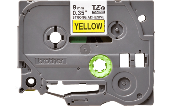 Genuine Brother TZe-S621 Labelling Tape Cassette – Black on Yellow Strong Adhesive, 9mm wide 2