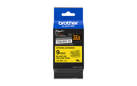 Cassette à ruban pour étiqueteuse TZe-S621 Brother originale – Noir sur jaune, 9mm de large 3