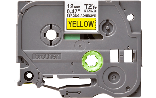 Genuine Brother TZe-S631 Labelling Tape Cassette – Black on Yellow, 12mm wide