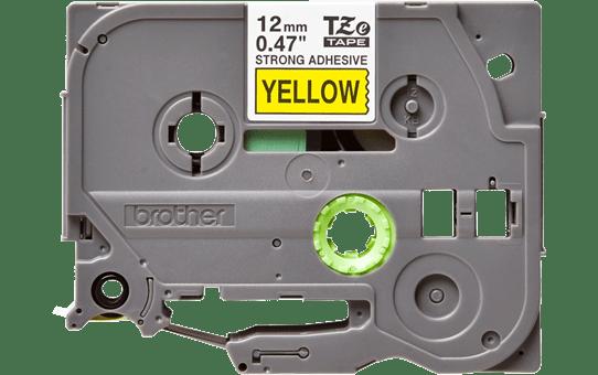 Original Brother TZeS631 merketape – sort på gul med sterkt lim, 12 mm bred 2