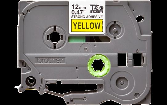 Brother TZeS631 original etikettape, svart på gul, 12 mm  2