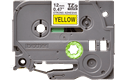 Genuine Brother TZe-S631 Labelling Tape Cassette – Black on Yellow Strong Adhesive, 12mm wide 2