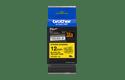 Brother TZeS631: оригинальная кассета с лентой с мощной клейкой поверхностью для печати наклеек черным на желтом фоне, ширина: 12 мм. 2