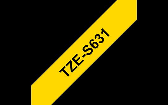 Tze-S631 ruban d'étiquettes adhésif puissant 12mm