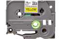 Originele Brother TZe-S641 sterk klevende label tapecassette - zwart op geel, breedte 18 mm 2