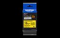 Originele Brother TZe-S641 sterk klevende label tapecassette - zwart op geel, breedte 18 mm 3