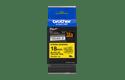 Brother TZeS641: оригинальная кассета с лентой с мощной клейкой поверхностью для печати наклеек черным на желтом фоне, ширина: 18 мм. 2