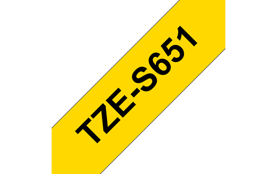 Brother TZe-S651 Schriftband – schwarz auf gelb 2