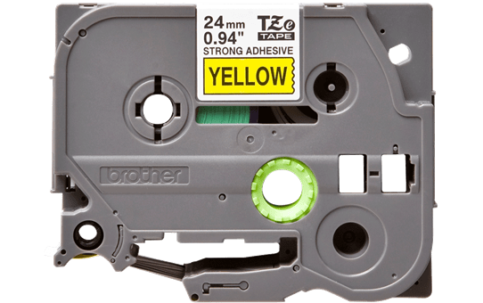 Original Brother TZeS651 tape – sort på gul, 24 mm bred 2