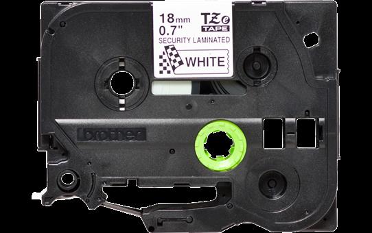 Brother TZe-SE4 original etikettape- svart på vit, 18 mm bred 3