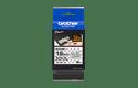Brother TZe-SE4 original etikettape- svart på vit, 18 mm bred 4