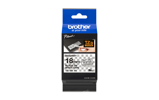 Genuine Brother TZe-SE4 Labelling Tape Cassette – Black on White, 18mm wide 3