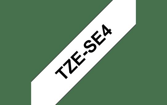 Cassette à ruban pour étiqueteuse TZe-SE4 Brother originale – Noir sur blanc, 18mm de large 2